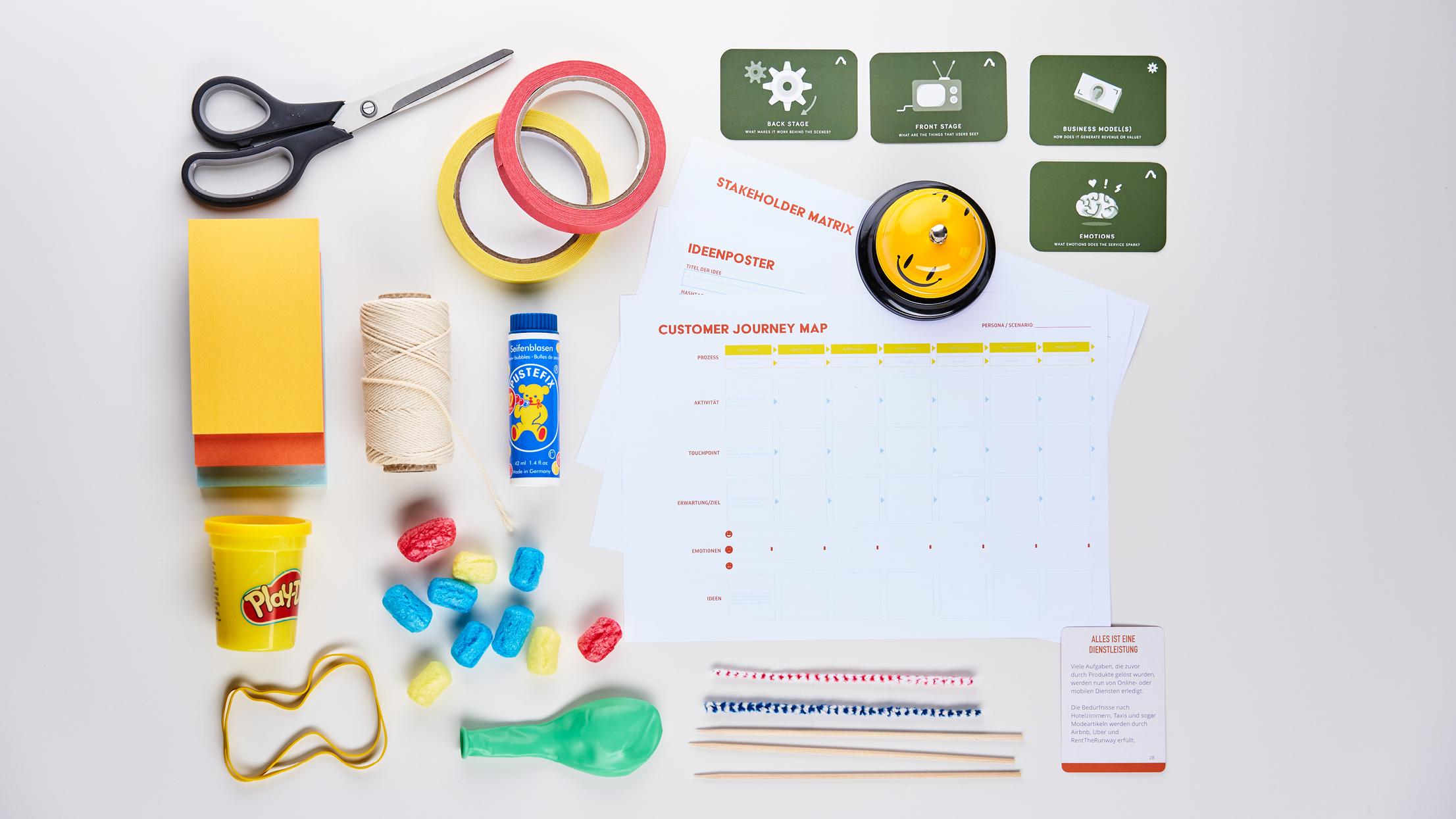 Service Design Thinking Methoden Flatlay | Manuel Grassler LEGO Serious Play Facilitator & Experte für Veränderungsprozesse